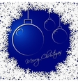 Christmas greeting card - balls with text vector image