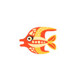 cute funny colorful fish hand drawn vector image