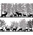 Herd of deer vector image