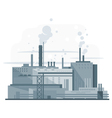 Industrial Factory Flat Style vector image