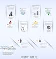 infographics retro minimal vector image