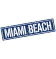miami beach blue square stamp vector image