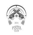 pistol club logotype vector image