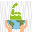 planet and factory isolated icon design vector image
