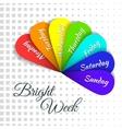 Rainbow Days Of Week vector image