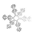 snowflake decorative isolated icon vector image