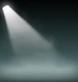 Spotlight illuminates smoke on a dark background vector image