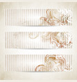 banners with swirling shapes vector image