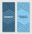 vertical banners for oktoberfest vector image