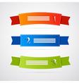 Colorful Ribbons Labels Set vector image