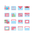 Web icons 23 vector image vector image