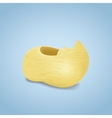 Wooden shoe vector image vector image