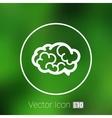 Brain icon mind medical brainstorm head vector image