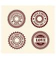 valentine day vintage stamps vector image