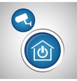 Smart home design Technology icon system concept vector image
