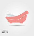 baby bath with foam vector image