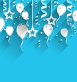 Birthday Background with Balloons Stars and vector image