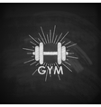 chalk of a dumbbell with vector image