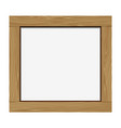 Empty notice wooden board vector image