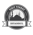 Istanbul stamp with silhouette of mosque vector image
