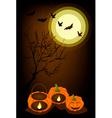 Jack-o-Lantern Pumpkins with Candle Light Inside vector image