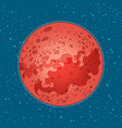 the planet mars space exploration science and vector image