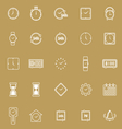Time line icons on brown background vector image