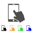touch smartphone icon vector image