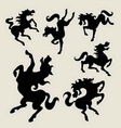 Horse dancing silhouettes vector image