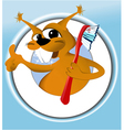 Squirrel cleaning teeth vector image vector image