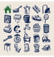 25 hand drawing doodle icon set cleaning and vector image