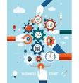 Business and entrepreneurship business start vector image vector image