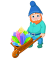 Gnome with Quartz crystals vector image