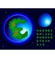 earth alphabet vector image vector image