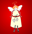 Angel symbol of happiness vector image