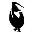 Pelican Bird Silhouette vector image