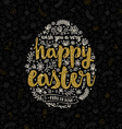 Easter greeting card with hand drawn element vector image vector image