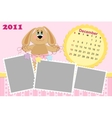 Babys monthly calendar for december 2011s vector image