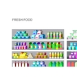 Shop supermarket flat vector image