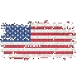 American grunge tile flag vector image
