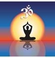 Concept image symbol Om practice vector image