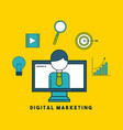 digital marketing cartoon vector image
