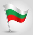 flag bulgaria vector image