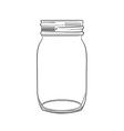 hand drawn doodle jar vector image
