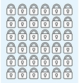 Padlock security icon vector image