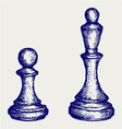 Chess figures vector image