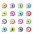dishes icons set vector image