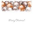 Christmas balls and snowflake on holiday vector image