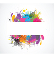 grunge colors vector image vector image