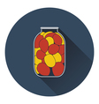 Canned tomatoes icon vector image